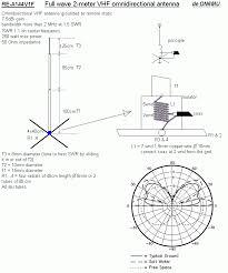 full wave 2 meter vhf omnidirectional antenna