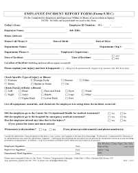 2019 Employee Incident Report Fillable Printable Pdf Forms