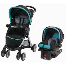 graco fastaction fold connect travel system car