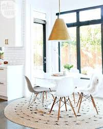 round dining rug kitchen rugs for table throughout best under plan 5
