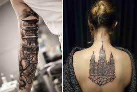 город над подошвой восхитительные архитектурные татуировки