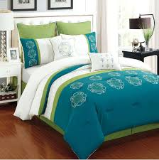 bedding size comforter sets teal and brown aqua colored bedspreads lime green solid twin yellow gray