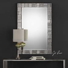 Framed modern mirror Bathroom Mid Century Modern Mirror Framed Wall Mirror Geometric 60 Signature Hardware Mid Century Modern Mirror Framed Wall Mirror Geometric 60