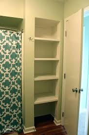 open closet shelving i want to take the door off our bathroom closet and make it open closet shelving