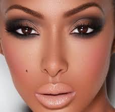 smokey eye lips dark skin