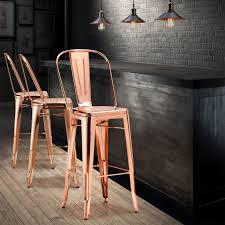 trendy rose gold bar chairs will glam up your kitchen stools42