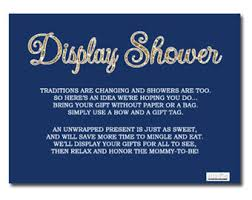 Display Baby Showerwe Enclosed These Notes With Our Invitations Display Baby Shower Wording