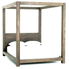 White Wood Canopy Bed Wooden Canopy Bed Frame Wood Queen White Twin ...