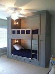 Built In Bunk Beds: would change the bottom to a full size bed with a