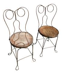Chicago Wire Chair Company Ice Cream Parlor Chairs A Pair Chairish