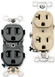 types of electrical receptacles 120 volt outlets