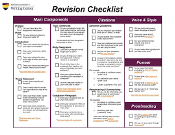 ashford writing a thorough writing your paper review it using our revision checklist if you can check off all of the boxes you are well on your way to a solid paper
