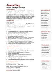 A well written resume example that will help you to convey your office manager  skills,