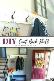 diy coat rack shelf pin coat rack shelf how to build a wall mounted with diy wall mounted coat rack with shelf