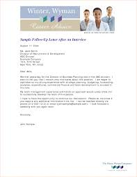 Follow Up Letter After An Interview Crna Cover Letter Thank You