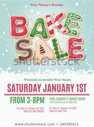 bake sale flyer templates christmas holiday bake sale flyer template stock vector royalty