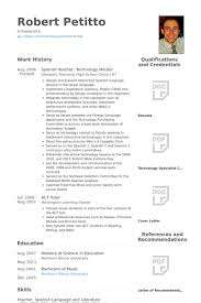 Spanish Resume Template] - 95 Images - High School Language Teacher ...