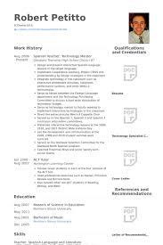 Spanish Resume Template] - 95 Images - High School Language Teacher ...