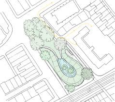 Base master plan with parking path