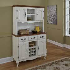 image of painted hutch cabinet