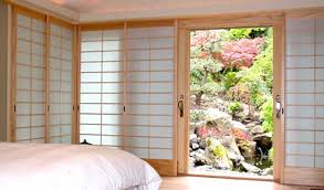 Japanese shoji doors Blinds The Window Wall Has Wood Tracking And All Five Shoji Screens Slide Into Pocket On Leoruntorememberorg Custom Japanese Shoji Screens Shoji Designs Inc
