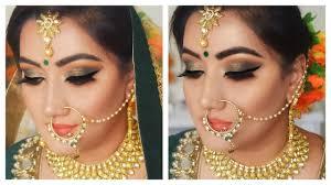 hindi indian bridal makeup step by step green eye makeup tutorial