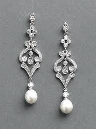 chandelier bridal earrings pearl wedding earrings a larger photo email a friend bridal chandelier earrings with