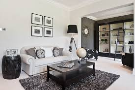 good looking black and white striped rug living room transitional moreover blue living room decor ideas