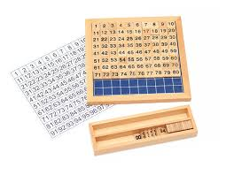 Bohs Montessori Hundred Board With 1 100 Counters Numerals