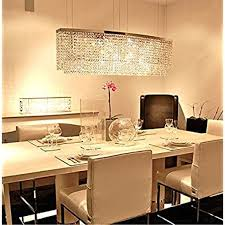siljoy modern crystal chandelier lighting rectangular oval pendant lights for dining room kitchen island