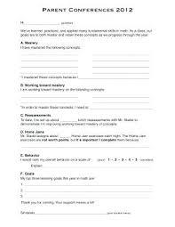 Parent Teacher Conference Form Template Sample Parent Teacher Conference Form Military Co Reminder