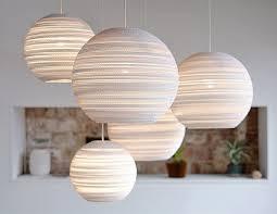 spherical lighting. White Spherical Eco Chic Lighting Made Of Cardboard In Situ By Graypants