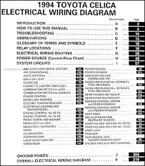 1994 toyota celica wiring diagram manual original covers all 1994 toyota celica models including st coupe convertible gt and sport this book measures 8 5 x 11 and is 0 38 thick