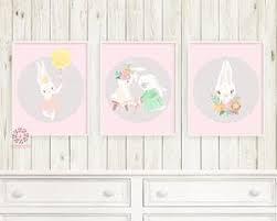 3 boho bunny baby girl nursery wall art print ethereal whimsical bohemian floral woodland animal printable on baby girl nursery wall art with 3 boho bunny baby girl nursery wall art print ethereal whimsical