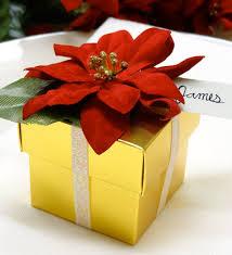 poinsettia gift box tutorial