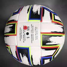 ใหม่UNIFORIAยูโร2021ลูกฟุตบอลอย่างเป็นทางการขนาด5ฟุตบอลไม่มีรอยต่อProfessional  Clubในร่มกลางแจ้งตรงกับลูกฟุตบอลลูกฟุตบอลกันลื่นเหมาะสำหรับทักษะฟุตบอลการปรับปรุงFit