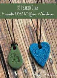 these diy baked clay essential oil diffuser necklaces are so easy to make with a few