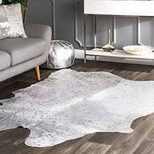 com nuloom nkchp brazilian natural cowhide area rug x for idea architecture cowhide