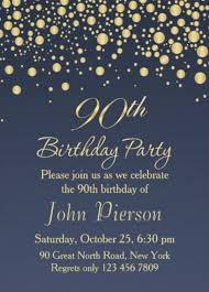 90 Birthday Party Invitations 11 90th Birthday Invitations Designs Templates Psd Ai