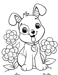 Dog Coloring Pages With Of Cute Dogs Free Printable Pictures