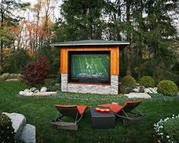 DIY Outdoor Movie Theater  The Great Outdoors  Pinterest  Movie Movie Backyard
