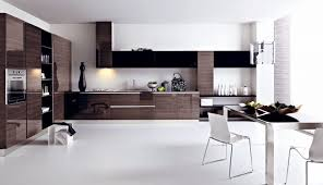 modern galley kitchen design beautiful glass pendant lamps ceiling beams design kitchen bay window storage cabinet furniture counter open shelves wall