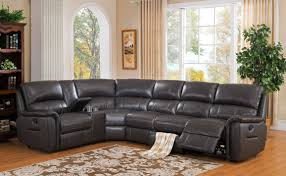 charcoal grey genuine leather power reclining sectional sofa camino hydeline order
