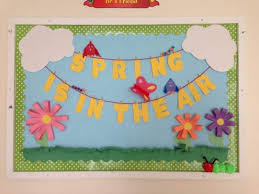 because i can smell spring in the air march bulletin board ideas