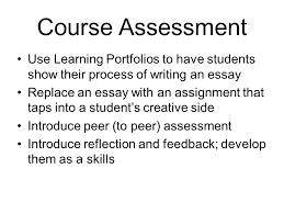learning portfolios resume cv teaching dossier course assessment  6 course assessment use learning