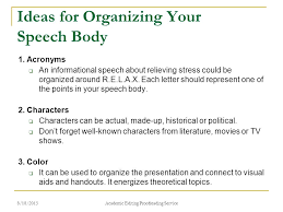 how to present a paper at an academic conference ppt  ideas for organizing your speech body
