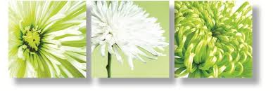 green canvas paintings