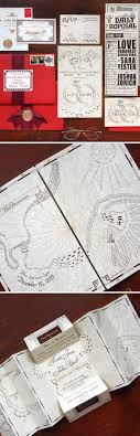 8 wedding invitations as the marauder s map from harry potter