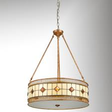 Minerals Tiffany Pendant Ceiling Light By Dale Tiffany