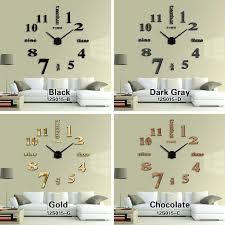 diy oversized wall clock jam diameter black 6 diy huge wall clock